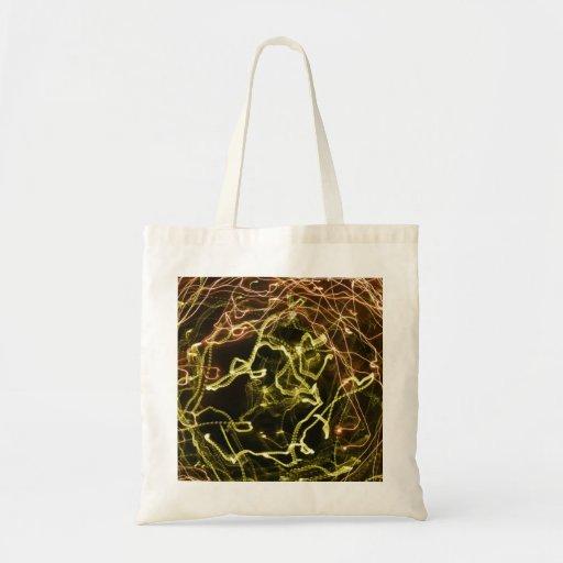 Modelo que brilla intensamente del verde y del nar bolsas de mano