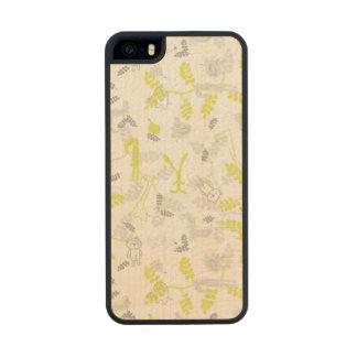 modelo que exhibe los animales 2 del bebé funda de arce carved® para iPhone 5