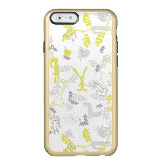 modelo que exhibe los animales 2 del bebé funda para iPhone 6 plus incipio feather shine