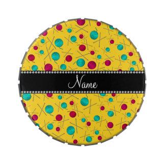 Modelo que hace punto amarillo conocido jarrones de dulces