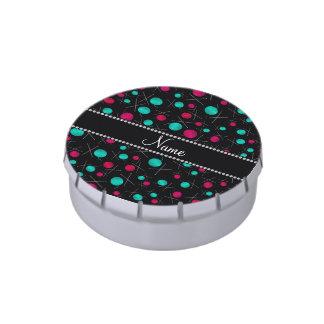 Modelo que hace punto negro conocido personalizado jarrones de caramelos