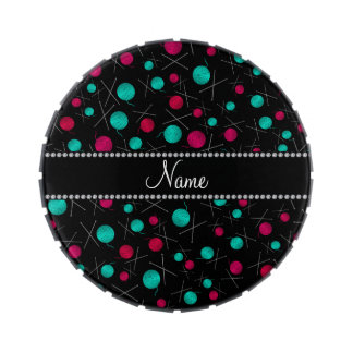 Modelo que hace punto negro conocido personalizado frascos de dulces