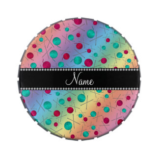 Modelo que hace punto personalizado del arco iris frascos de dulces