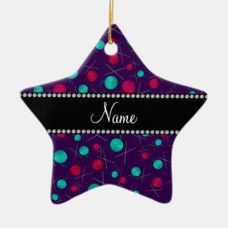 Modelo que hace punto púrpura conocido adorno de cerámica en forma de estrella