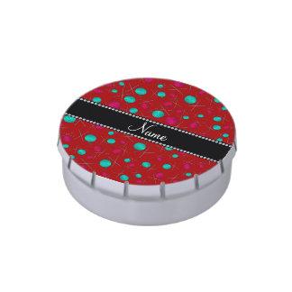 Modelo que hace punto rojo conocido personalizado frascos de caramelos
