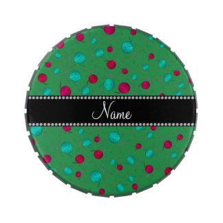 Modelo que hace punto verde conocido personalizado frascos de caramelos