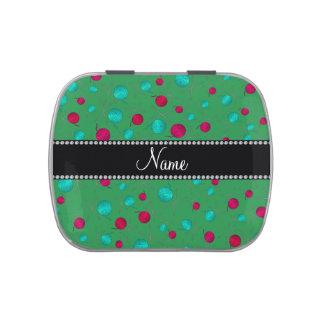 Modelo que hace punto verde conocido personalizado latas de caramelos
