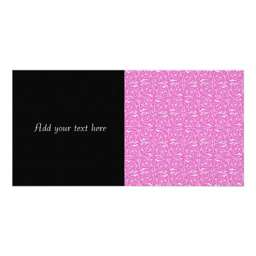 Modelo que remolina lindo del rosa y blanco de las tarjeta fotografica