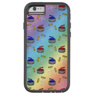 Modelo que se encrespa del arco iris funda para  iPhone 6 tough xtreme