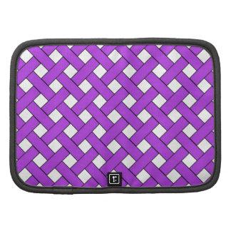 Modelo que teje púrpura planificadores