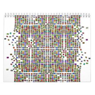 modelo quebrado 3 calendarios de pared