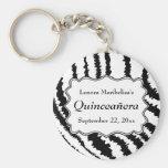 Modelo Quinceanera del estampado de zebra Llavero