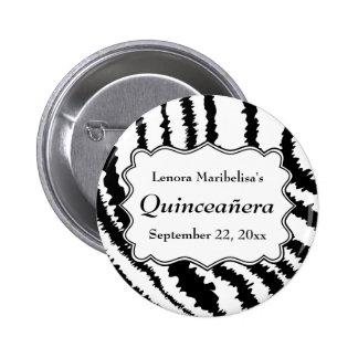 Modelo Quinceanera del estampado de zebra Pin
