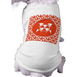 Modelo radiactivo en rojo camiseta de mascota