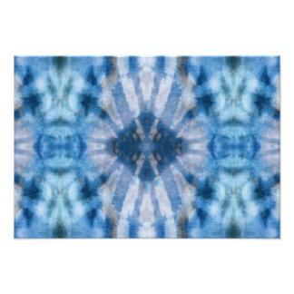 Modelo radial blanco azul del punto de los rayos d impresiones fotograficas