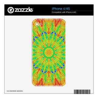 Modelo radial colorido: calcomanía para el iPhone 4