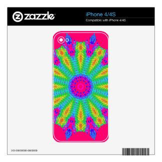 Modelo radial colorido: iPhone 4S calcomanía