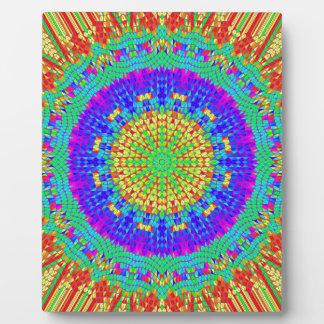 Modelo radial colorido: placas para mostrar