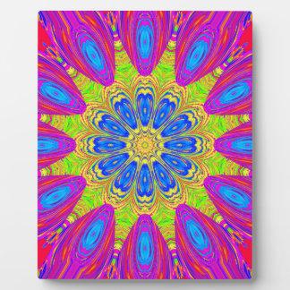 Modelo radial colorido: placas de madera