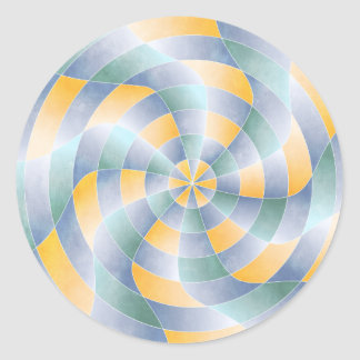 Modelo radial de Wavey Pegatina Redonda