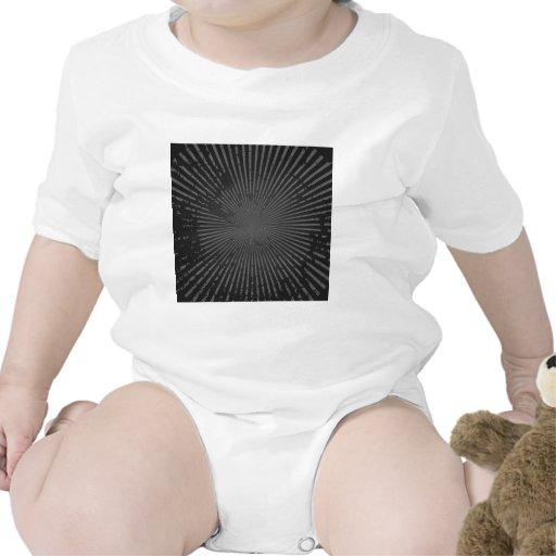 Modelo radial del Grunge: Plantilla de encargo Traje De Bebé
