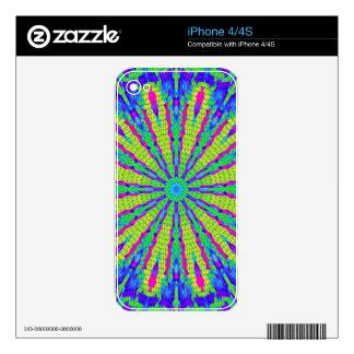 Modelo radial psicodélico: iPhone 4S calcomanía