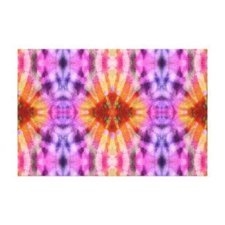 Modelo radial púrpura anaranjado del punto de los  impresiones en lienzo estiradas