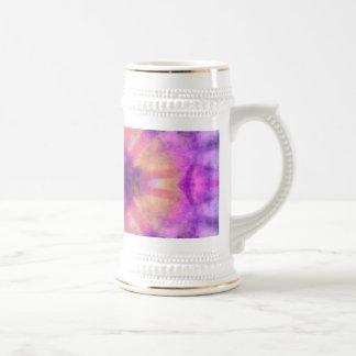 Modelo radial púrpura rosado del punto de los jarra de cerveza