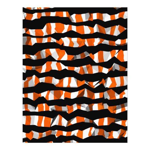 """Modelo rayado abstracto lindo de Halloween Folleto 8.5"""" X 11"""""""