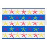 Modelo rayado azul de las estrellas de mar del tarjeta pequeña