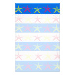 Modelo rayado azul de las estrellas de mar del tem papeleria
