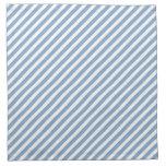 Modelo rayado azul y blanco servilleta imprimida