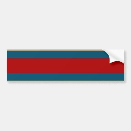 Modelo rayado blanco del moreno fresco del rojo az etiqueta de parachoque