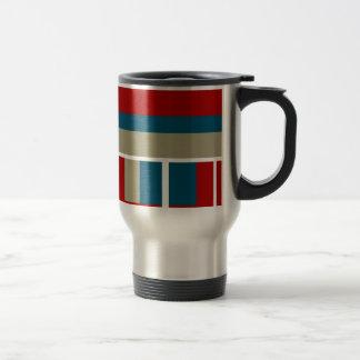 Modelo rayado blanco del moreno fresco del rojo az tazas de café