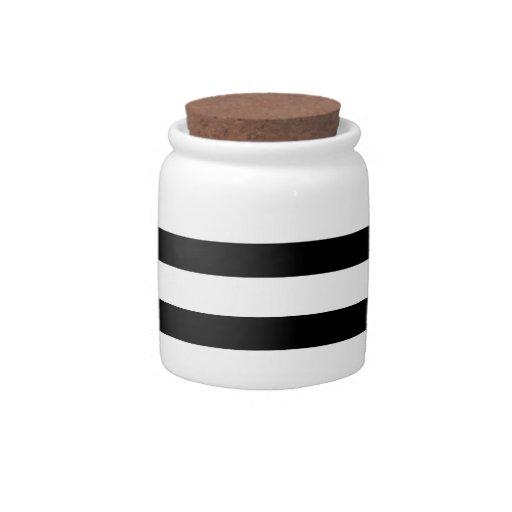 Modelo rayado blanco y negro del Jailbird de la di Platos Para Caramelos