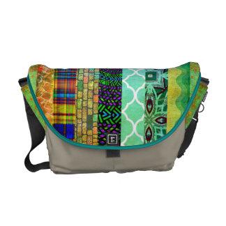 Modelo rayado bohemio abstracto bonito bolsas de mensajeria
