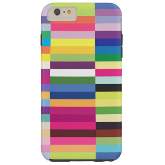 Modelo rayado colorido funda resistente iPhone 6 plus