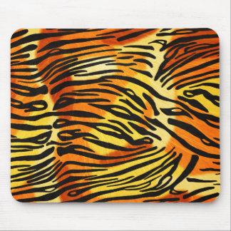 Modelo rayado de la impresión de la piel del tigre alfombrilla de ratones