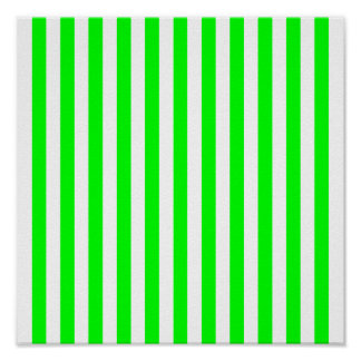 Modelo rayado de la verde lima posters