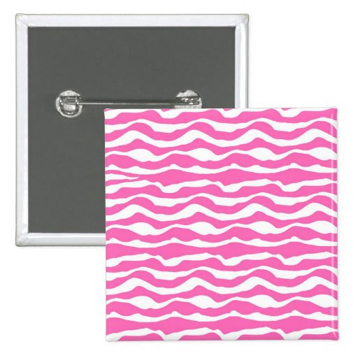 Modelo rayado de moda de la cebra rosada y blanca pin
