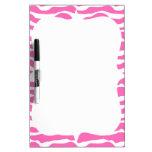 Modelo rayado de moda de la cebra rosada y blanca pizarras blancas de calidad