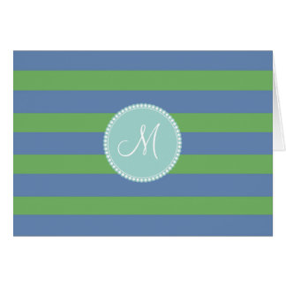 Modelo rayado del bígaro verde inicial del tarjeta pequeña