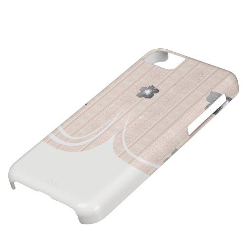modelo rayado del damasco del vintage oxidado funda para iPhone 5C