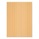 Modelo rayado del naranja y blanco invitación 11,4 x 15,8 cm