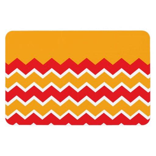 Modelo rayado del oro del zigzag rojo fresco de Ch Imán De Vinilo