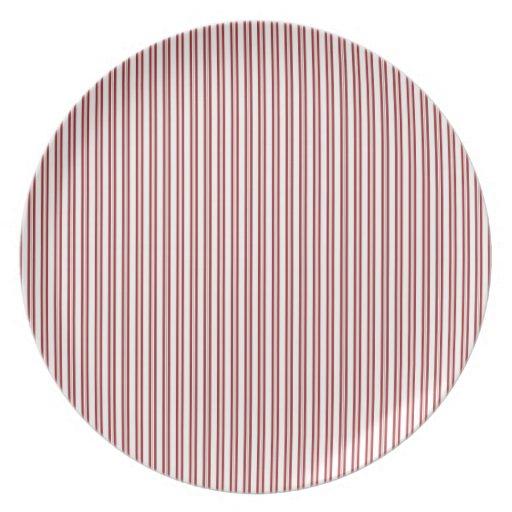 Modelo rayado del Pin del rojo moderno Platos De Comidas