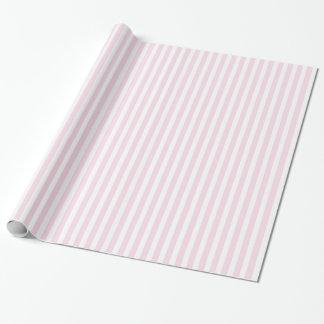 Modelo rayado del rosa y blanco papel de regalo
