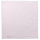 Modelo rayado del rosa y blanco servilleta imprimida