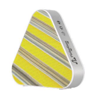modelo rayado diagonal amarillo y blanco brillante altavoz