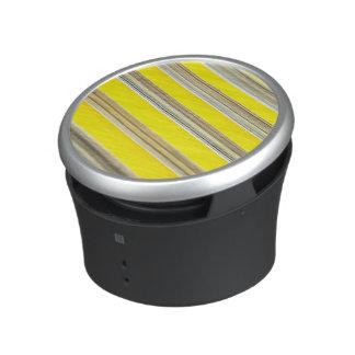 modelo rayado diagonal amarillo y blanco brillante altavoz con bluetooth